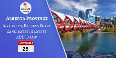 Alberta Issued 374 Invites to Express Entry Candidates in Latest AINP Draw