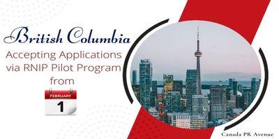 British Columbia Accepting Applications via RNIP pilot program