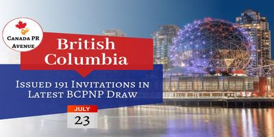 British Columbia Opened the Latest BC PNP Draw on July 23, 2019
