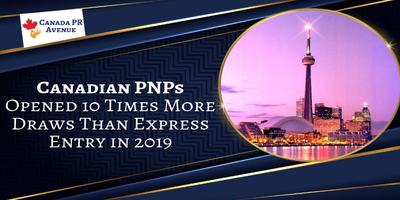 With 160 Draws in 2019, PNPs Lead the Express Entry Draws by Huge Margin