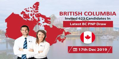 British Columbia Issued 623 Invitations in Latest BCPNP Draw on 17th Dec 2019