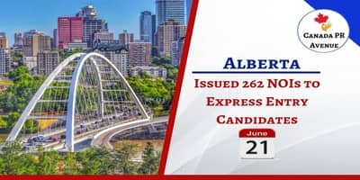 Alberta issued 262 NOIs to Express Entry candidates on June 21