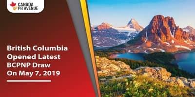 British Columbia Opened Latest BC PNP Draw On May 7, 2019