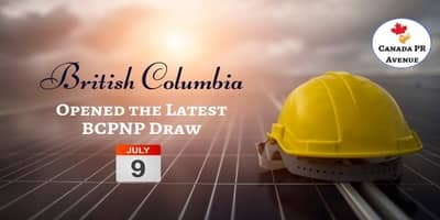British Columbia Issued 218 Invitations in the Latest BCPNP Draw Held on 9th July 2019