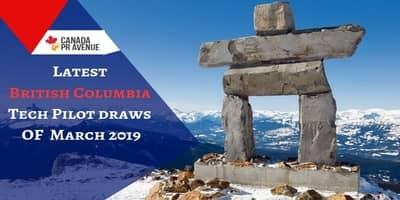 Latest British Columbia Tech Pilot draws of March 2019