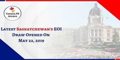 Latest Saskatchewan EOI Draw opened on May 22, 2019