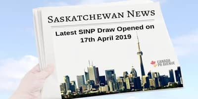 Latest SINP Draw Opened on 17th April 2019