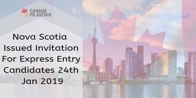 Nova Scotia Issued Invitation For Express Entry Candidates 24th Jan 2019