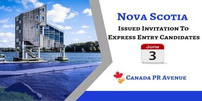 Nova Scotia- Express Entry Stream Draw on 3rd June 2019