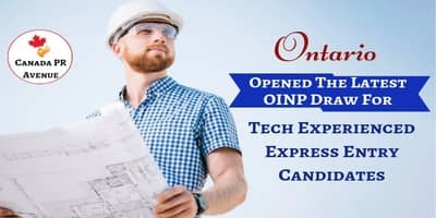 Ontario Opened the Latest OINP Draw on 12th July 2019