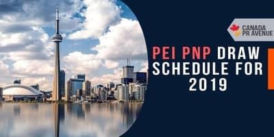PEIPNP Draw Schedule for 2019