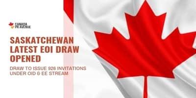 Saskatchewan EOI Draw Opened