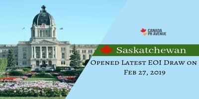 Saskatchewan Opened Latest EOI Draw on Feb 27, 2019