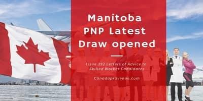 Manitoba PNP Latest Draw opened